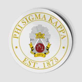 Phi Sigma Kappa Circle Crest - Shield Decal