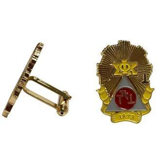 Phi Sigma Kappa Color Crest - Shield Cuff links-ON SALE!