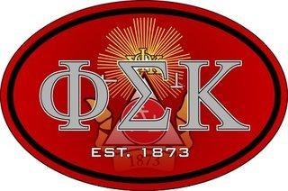 Phi Sigma Kappa Color Oval Decal