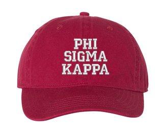 Phi Sigma Kappa Pigment Dyed Baseball Cap