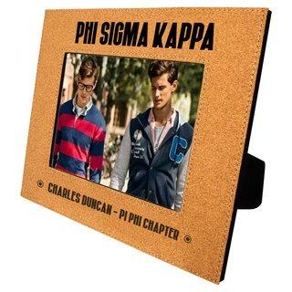 Phi Sigma Kappa Cork Photo Frame