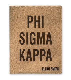 Phi Sigma Kappa Cork Portfolio with Notepad