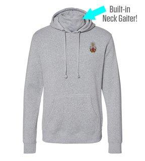 Phi Sigma Kappa Crest Gaiter Fleece Hooded Sweatshirt