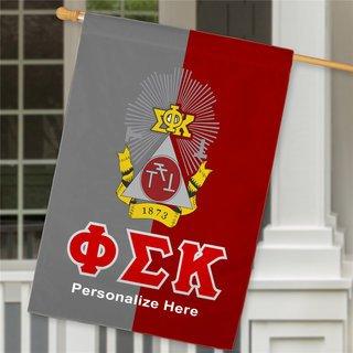 Phi Sigma Kappa Crest House Flag