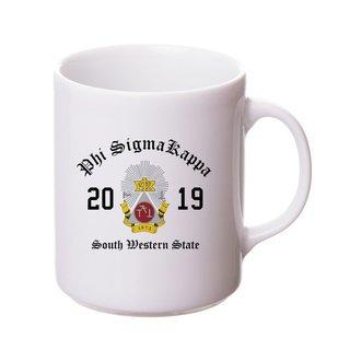 Phi Sigma Kappa Crest & Year Ceramic Mug