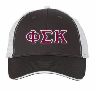 Phi Sigma Kappa Double Greek Trucker Cap