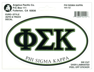 Phi Sigma Kappa Euro Decal Oval Sticker