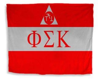 Phi Sigma Kappa Flag Giant Velveteen Blanket