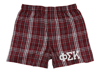 Phi Sigma Kappa Flannel Boxer Shorts