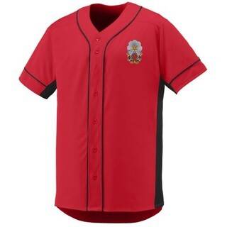DISCOUNT-Phi Sigma Kappa Fraternity Crest - Shield Slugger Baseball Jersey
