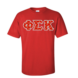 Phi Sigma Kappa Fraternity Crest - Shield Twill Letter Tee