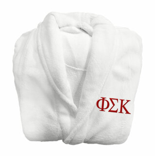 Phi Sigma Kappa Fraternity Lettered Bathrobe