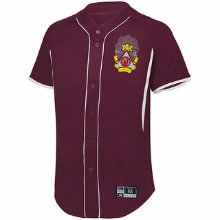 Phi Sigma Kappa Game 7 Full-Button Baseball Jersey