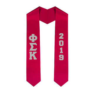 Phi Sigma Kappa Greek Lettered Graduation Sash Stole With Year - Best Value