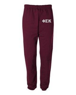 Phi Sigma Kappa Greek Lettered Thigh Sweatpants