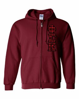 "Phi Sigma Kappa Heavy Full-Zip Hooded Sweatshirt - 3"" Letters!"