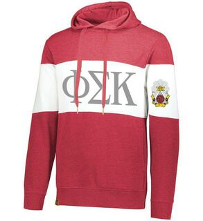 Phi Sigma Kappa Ivy League Hoodie W Crest On Left Sleeve