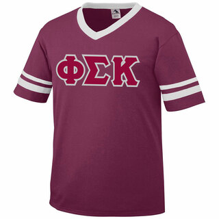 DISCOUNT-Phi Sigma Kappa Jersey With Greek Applique Letters