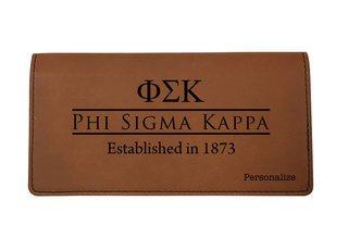 Phi Sigma Kappa Leatherette Checkbook Cover