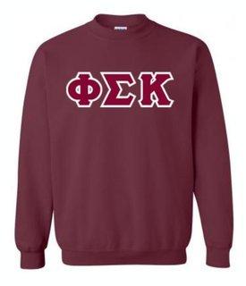 Phi Sigma Kappa Sewn Lettered Crewneck Sweatshirt