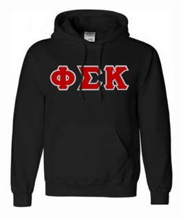 Phi Sigma Kappa Lettered Greek Hoodie- MADE FAST!