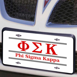 Phi Sigma Kappa Lettered Lines License Cover