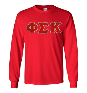 Phi Sigma Kappa Lettered Long Sleeve Shirt