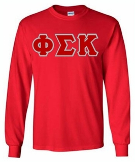 Phi Sigma Kappa Lettered Long Sleeve Tee- MADE FAST!