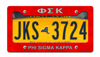 Phi Sigma Kappa License Plate Frame