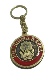 Phi Sigma Kappa Metal Fraternity Key Chain