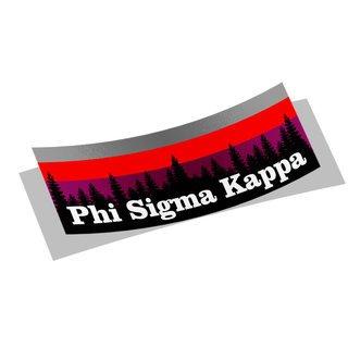 Phi Sigma Kappa Mountain Decal Sticker