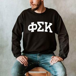 Phi Sigma Kappa Arched Greek Letter Crewneck Sweatshirt