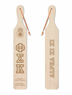 Phi Sigma Kappa Old School Wood Greek Paddle