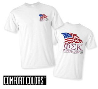 Phi Sigma Kappa Patriot  Limited Edition Tee - Comfort Colors