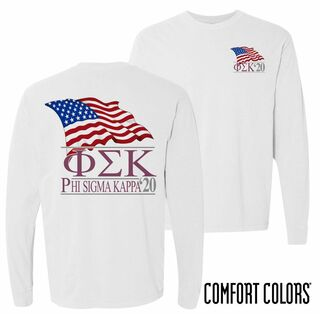 Phi Sigma Kappa Patriot Long Sleeve T-shirt - Comfort Colors