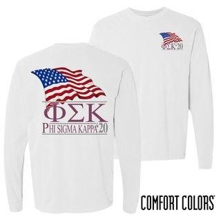 Phi Sigma Kappa Patriot Long Sleeve T-shirt - Comfort Colors