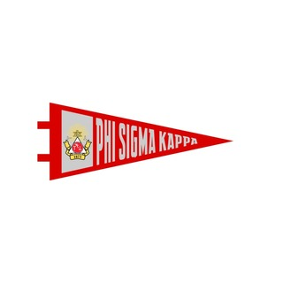 "Phi Sigma Kappa Pennant Decal 4"" Wide"