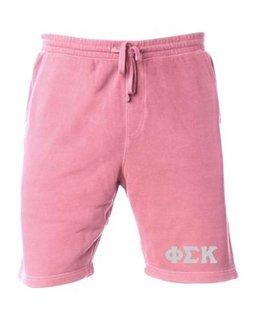 Phi Sigma Kappa Pigment-Dyed Fleece Shorts