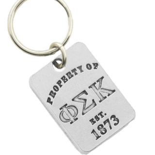Phi Sigma Kappa Property of Tag Keychain