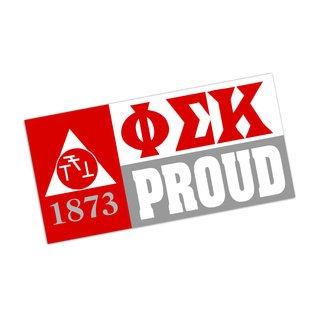 Phi Sigma Kappa Proud Bumper Sticker - CLOSEOUT
