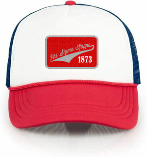 Phi Sigma Kappa Red, White & Blue Trucker Hat