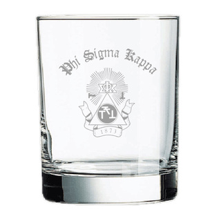 Phi Sigma Kappa Rocks Glass