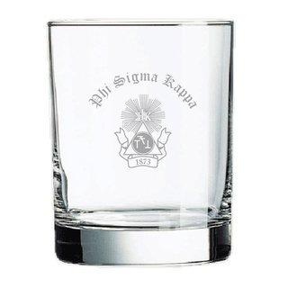 Phi Sigma Kappa Old Style Glass