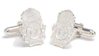 Phi Sigma Kappa Sterling Silver Crest - Shield Cufflinks
