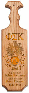 Phi Sigma Kappa Traditional Greek Paddle