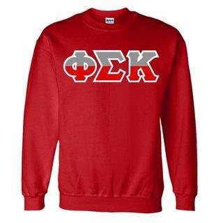 Phi Sigma Kappa Two Tone Greek Lettered Crewneck Sweatshirt
