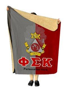 Phi Sigma Kappa Two Tone Two Tone Sherpa Lap Blanket