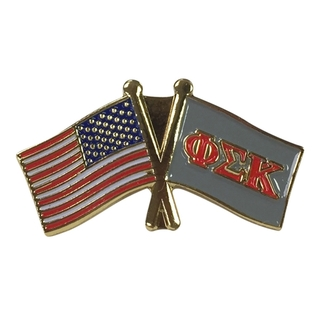Phi Sigma Kappa USA Flag Lapel Pin