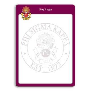 Phi Sigma Kappa Wipe Erase