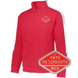DISCOUNT-Phi Sigma Kappa Woven Emblem Greek Medalist Pullover